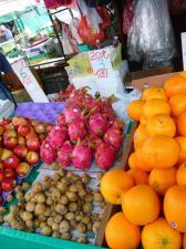 Dragon fruit at Hong Kong fruit market
