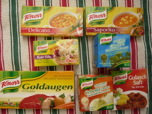 a sampling of Knorr products from my kitchen