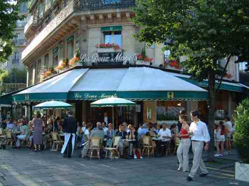 Le Deux Magots (photo from splendorsofeurope)