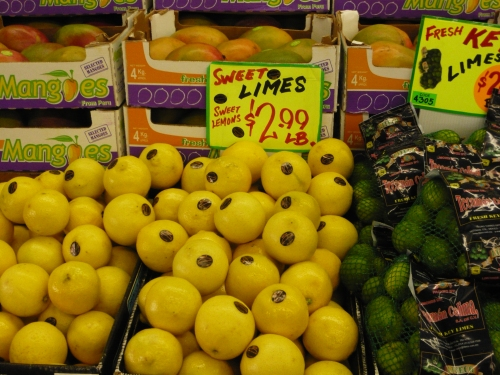 sweet lemons at the 22nd St Market in San Francisco
