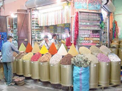 Marakkesh spice market (photo by bridgew)