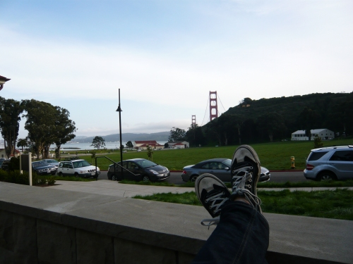 kicking back at Cavallo Point