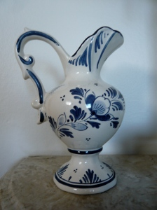classic blue and white Dutch pitcher